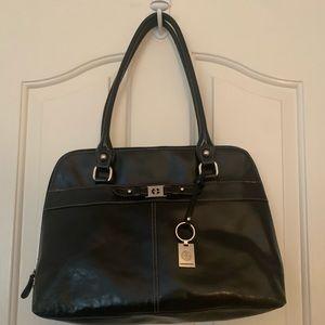 Sleek black Giani Bernini bag
